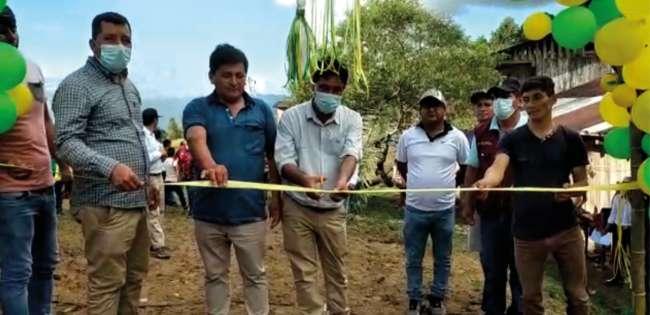 Alcalde del distrito de Alonso de Alvarado Roque, Antolin Guerrero Cordova, inauguró 4 kilometros de trocha carrozable del sector Los Angeles