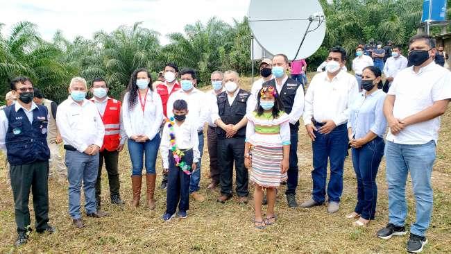 En I.E. Rural Edwin Pinedo Escudero: Ministro inaugura plan CONECTA SELVA en Yurimaguas