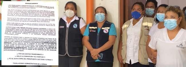 Servidores administrativos de Salud en Yurimaguas se pronuncian en contra de huelga: Medida es irresponsable