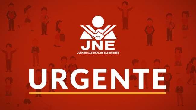 JNE anuncia que ya redacta acta de proclamación y que entregará credenciales esta semana
