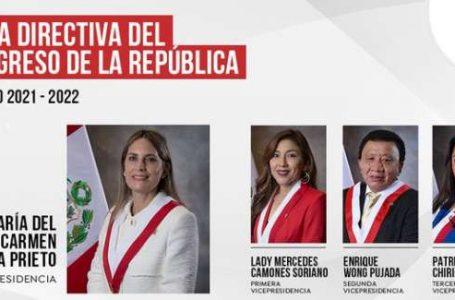 María del Carmen Alva gana la presidencia del Congreso y manda mensaje al Ejecutivo