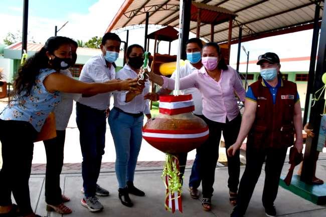 GORESAM inauguró mejoramiento de infraestructura educativa en San Hilarión