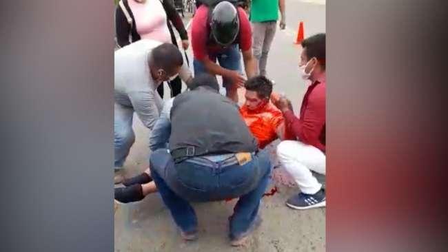 Choque deja una persona herida en La Banda de Shilcayo
