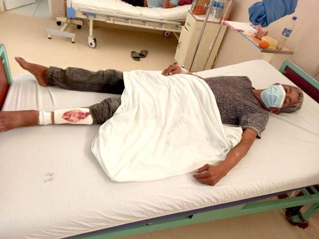 Indigente que fue internado de emergencia en el Hospital de La Banda de Shilcayo requiere apoyo