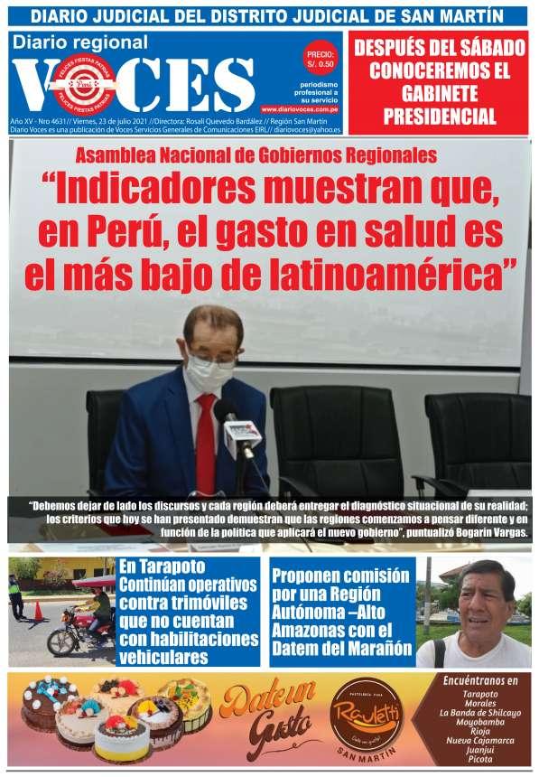 Diario Digital Viernes 23 de Julio del 2021