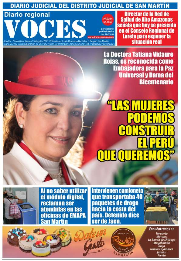 Diario Digital Jueves 15 de Julio del 2021