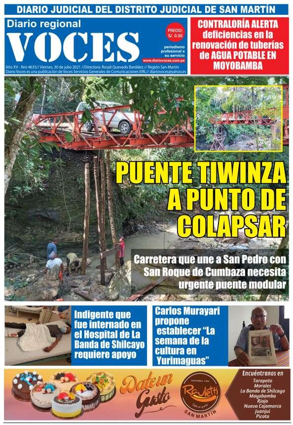 Diario Digital Viernes 30 de Julio del 2021