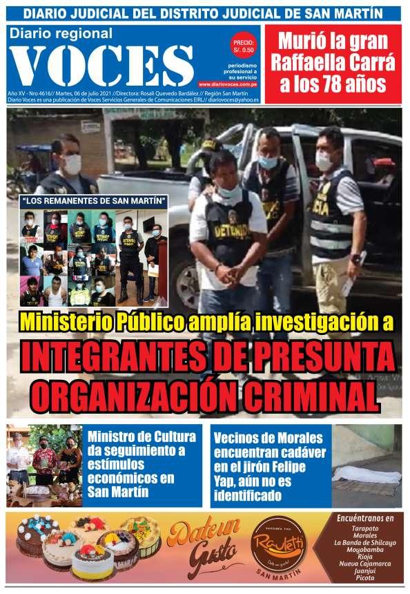 Diario Digital Martes 06 de Julio del 2021