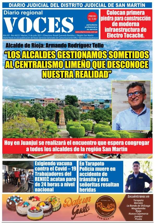 Diario Digital Martes 13 de Julio del 2021