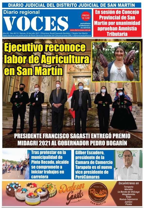 Diario Digital Viernes 02 de Julio del 2021