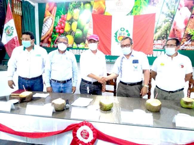 Gobierno regional de San Martín y gobierno regional de Madre de Dios se unen para potenciar la producción de cacao