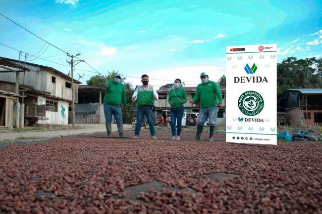 DEVIDA APOYA LA COMERCIIZACIÓN DE MÁS DE 68 TONELADAS DE CACAO EN LA REGIÓN SAN MARTÍN