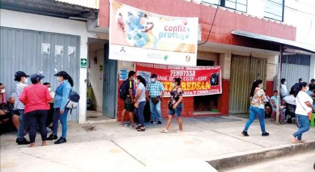 CONFLICTO LABORAL EN RED DE SALUD DE ALTO AMAZONAS SE AGRAVA