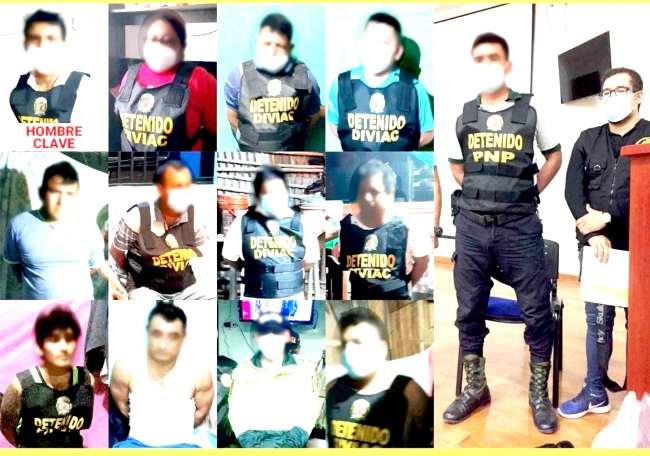 ORDENAN PRISIÓN PREVENTIVA PARA 22 PRESUNTOS MIEMBROS DE ORGANIZACIÓN CRIMINAL