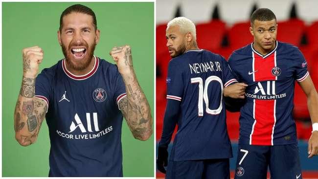 Con Neymar, Mbappé y Ramos: el once de lujo que formaría PSG con Lionel Messi