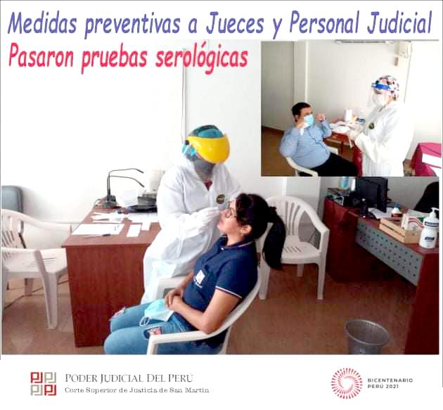 Medidas preventivas a jueces y personal de Moyobamba y Lamas