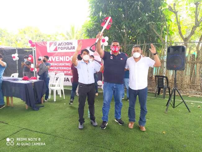 La base Rioja de Acción Popular recibió a su candidato a la secretaria general departamental por San Martín