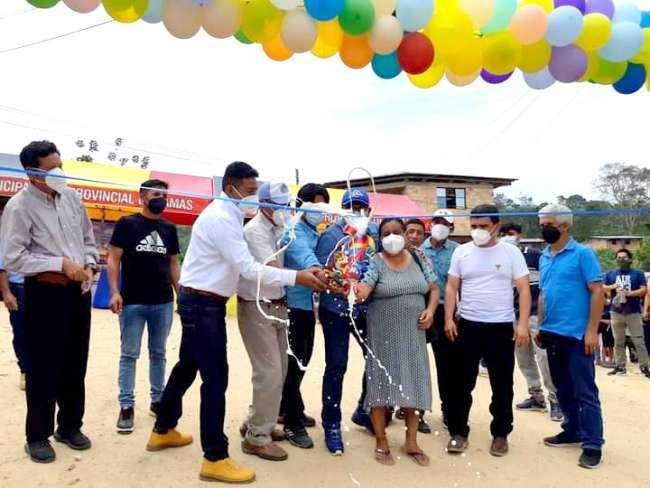 Alcalde de Lamas entrega 12 Kilómetros de carretera a pobladores de Pinto Recodo