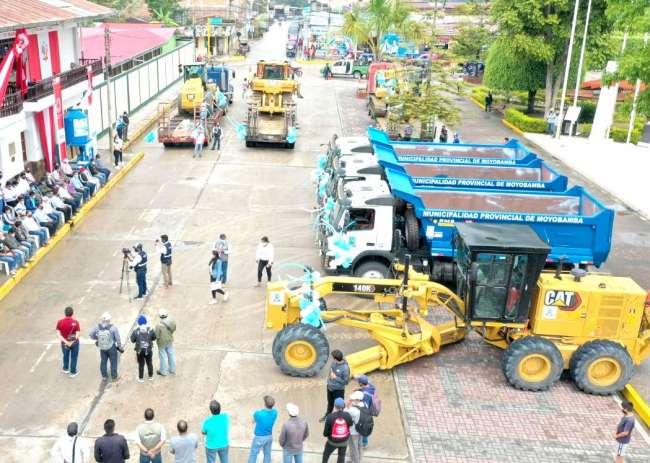 Moyobamba cuenta con nuevo pool de maquinarias pesadas para mejoramientos