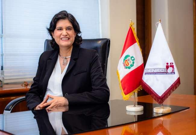 Jefa Nacional de RENIEC en visita de trabajo en San Martín