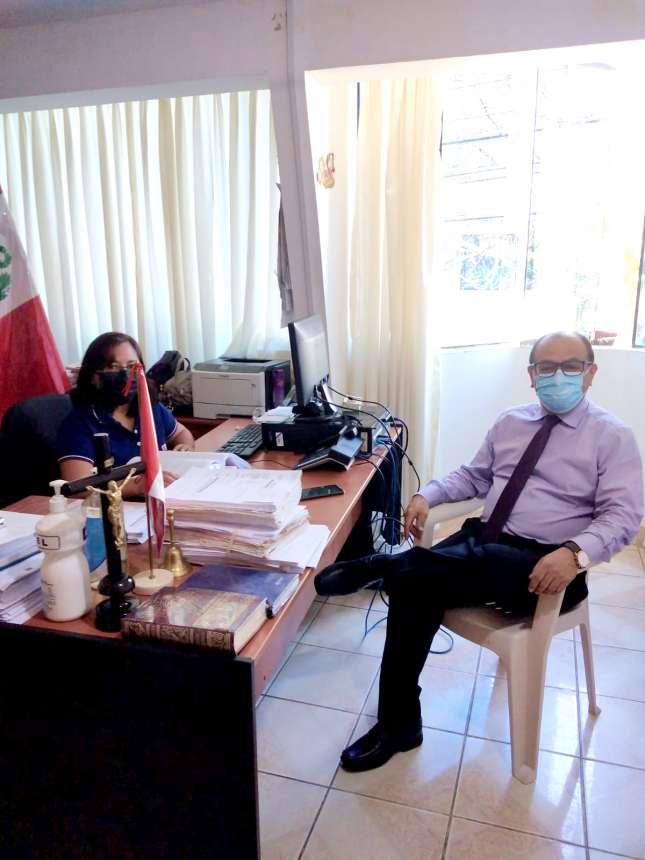 Presidente de Corte de San Martín realiza visita inopinada a órganos jurisdiccionales de Lamas
