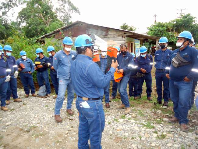 Personal de Electro Tocache participó en jornada de capacitación a personal técnico y administrativo
