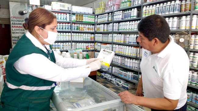 Operativo multisectorial da golpe a venta ilegal de plaguicidas prohibidos en región San Martín