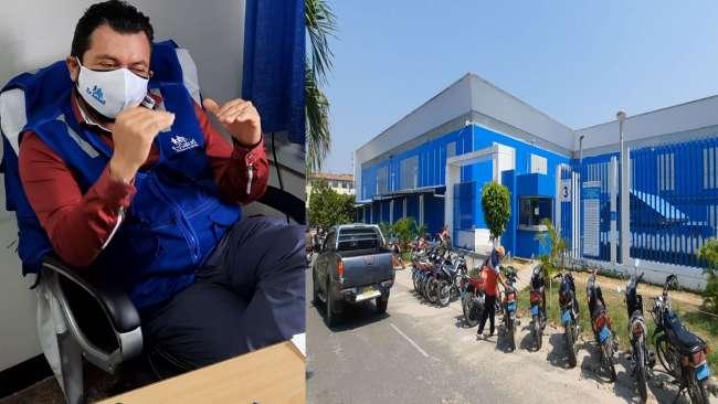 Hospital móvil de Tarapoto se quedó a medio camino