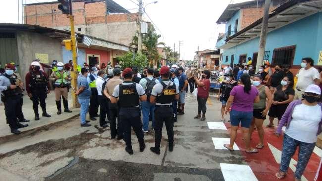 Denuncian ante la fiscalía la sustracción de materiales de la ciclovía del jirón Santa Inés