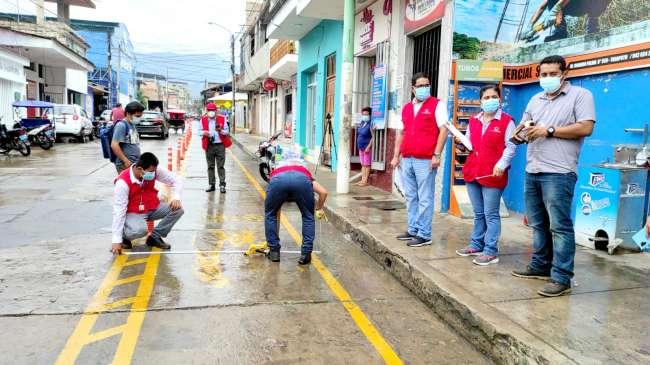 Contraloría General de la República y Defensoría del Pueblo visitan la Ciclovía de Tarapoto