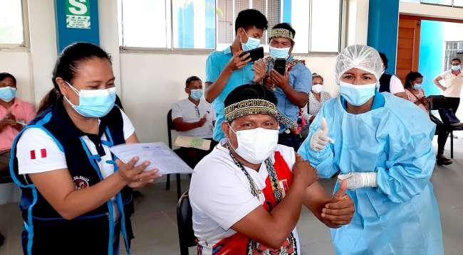 Pobladores shawis se niegan a vacunarse
