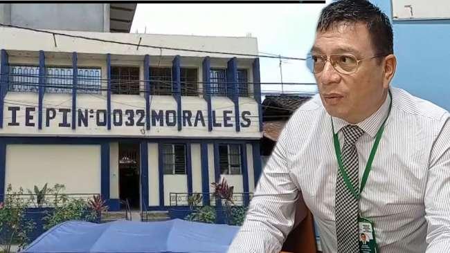 UGEL San Martín interviene en IE 0032 de Morales