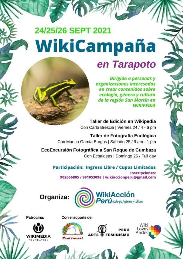 WikiAcción Perú organiza en Tarapoto talleres de creación de contenidos en Wikipedia