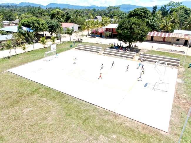MPSM pone en funcionamiento losa deportiva multiusos en caserío Miraflores