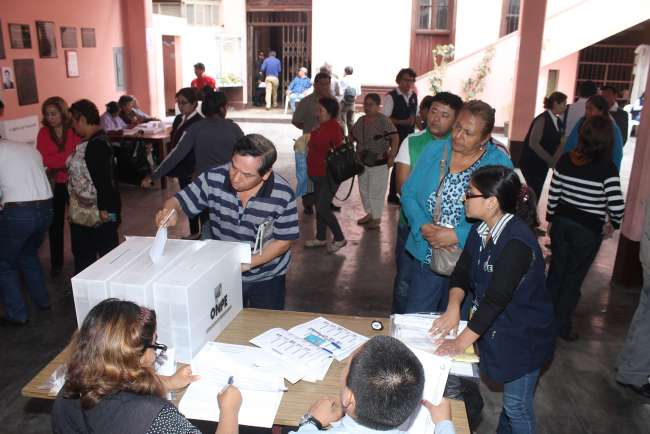 ONPE brinda capacitación a los actores electores de las elecciones internas de Acción Popular