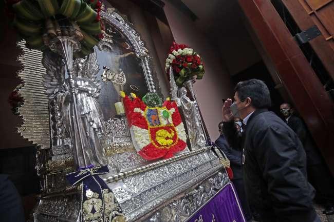 Pedro Castillo participó en la Misa por la Nación en la Iglesia Las Nazarenas