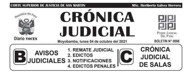 DIARIO VOCES – DIARIO JUDICIAL DEL DISTRITO JUDICIAL DE SAN MARTIN 04-10-21