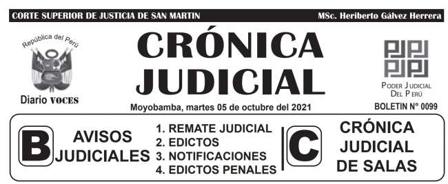 DIARIO VOCES – DIARIO JUDICIAL DEL DISTRITO JUDICIAL DE SAN MARTIN 05-10-21