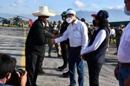 El presidente de la República, Pedro Castillo Terrones, arribó a la ciudad de Tarapoto.