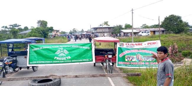 Dirigentes del FRECIDES brindan apoyo a pobladores del Bajo Huallaga