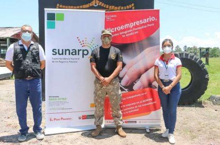 Para fomentar emprendimientos GORESAM Y SUNARP capacitan a jóvenes que realizan servicio militar en base de Rioja