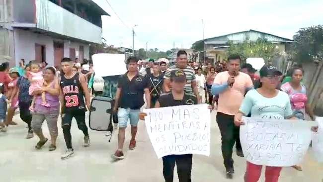 Pobladores de Yarina iniciaron huelga