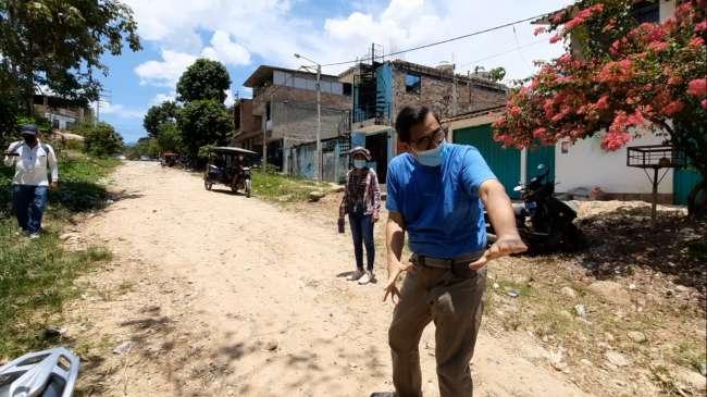 Regidor de comuna tarapotina pide rehabilitación de jr. Ciro Alegría, calle está destruida