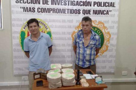 POLICIA CAPTURA A DOS PRESUNTOS TRAFICANTES DE PBC