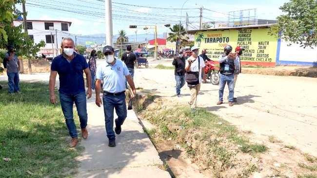Alcaldes de Tarapoto y Morales realizarán obras en forma conjunta
